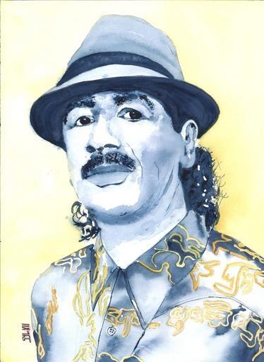 Carlos Santana by aquarelle-autrement
